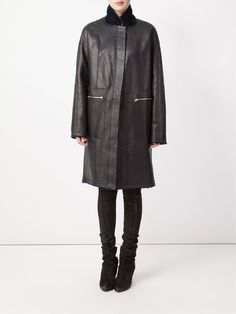 32 Paradis Sprung Frères cappotto reversibile con un collo alto standing