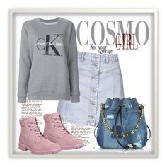 """""""Untitled #3054"""" by julinka111 ❤ liked on Polyvore featuring Topshop, Timberland, Calvin Klein Jeans and Dsquared2"""
