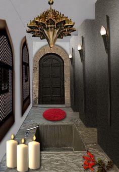 ambiance appliques bton dtente espace restreint fonctionnel hammam lieu - Salle De Bain Marocaine Design