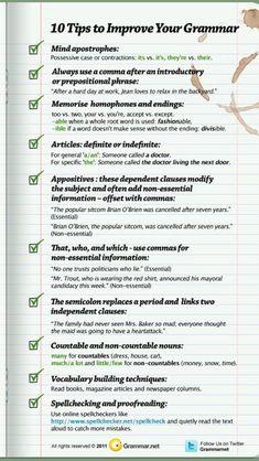 how to be a better writer essay A Grammar Cheat Sheet: 10 Quick Tips for Better Writing Grammar Tips, Grammar And Punctuation, Teaching Grammar, Teaching Writing, Writing Help, Teaching English, Better Writing, Grammar Help, Basic Grammar