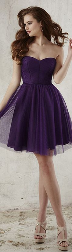 Romantic Tulle Sweetheart Neckline Short A-line Bridesmaid Dresses With Belt