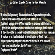 A Quiet Cabin - http://legacyofhorror.org/2016/08/a-quiet-cabin/