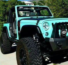 Blue 2 door jeep