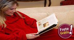 Cupônica | Cobertor com Mangas Soft Touch! Você fica aquecido e com os braços livres!