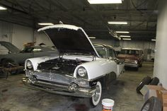 1955 Packard Clipper Constellation in for general repairs.