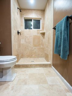 This image shows off the versatility of this Antique Pattern Travertine Tile!