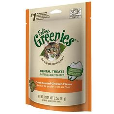 Feline Greenies Dental Treats, Oven Roasted Chicken 2.5 oz(pack of 2) ** Read more reviews of the product by visiting the link on the image.