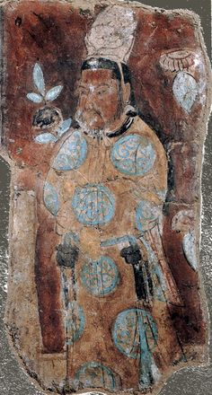 """jeannepompadour: """" Uyghur Buddhist art in the Bezeklik caves in China, century """" Luoyang, Chinese Painting, Chinese Art, Fresco, Tempera, Dunhuang, Art Chinois, Art Asiatique, Buddhist Art"""