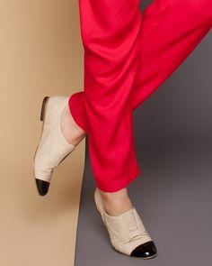 Cap Toe Slip-On Loafers.