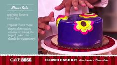 Watch Buddy make a Flower Cake using the #EasyAsCake Cake Boss Flower Cake Kit! #BadaBing