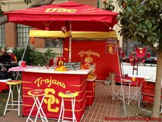 2013 Senecal USC Trojans Tailgating - Stanford vs USC University Of Southern California, Usc Trojans, Sports Party, Football Season, Tailgating, Man Cave, Scenery, Garage, Parties