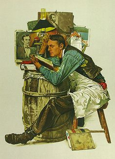 """""""Law Student""""   Norman Rockwell"""