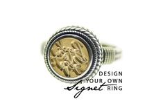 You don't have to write letters to own a seal now! A piece of jewelry you could wear & use it as a wax seal stamp. Each seal is individually crafted & come with a ready to gift ring box. Lovely gift for wax seal lovers. Design Your Own Ring, Wax Seal Stamp, Snail Mail, Letter Writing, Wax Seals, Signet Ring, Lovers, Wreaths, Engagement Rings