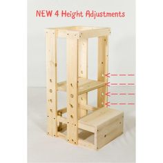 Welcome to the TeddyGrams Tot Tower page. Our goal is for your child to get to counter height safely using our grow-with-your-toddler Tot Tower Step Stool. Toddler Kitchen Stool, Kitchen Stools, Wood Projects, Woodworking Projects, Woodworking Classes, Woodworking Videos, Woodworking Shop, Learning Tower, Diy Stool