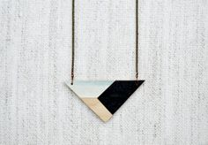 amazing necklace from meghann rader | geometric | painted | wooden