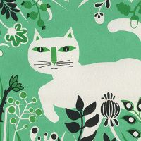 """Cat - Screen print (detail) created for exhibition, """"Yesterday's Tomorrow is Today"""" by Marcus Walters"""