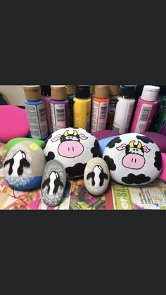 Rock Painting Ideas Easy, Rock Painting Designs, Painting For Kids, Art For Kids, Painted Rock Animals, Painted Rocks Craft, Mandala Painting, Stone Painting, Hobbies And Crafts