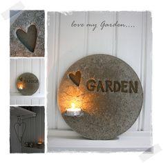 ...ja igår var jag framme med betongen igen, och nya ideér...         ...men denna gången med text...   och det blev Garden....jag älsk...