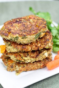 Quinoa Shrimp Patties. I may try sans cheese, egg, and yogurt, sub in mashed chickpeas. We'll see...