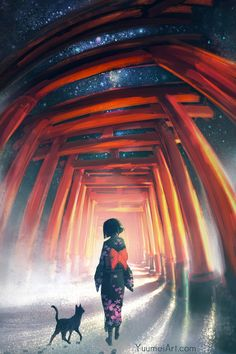 Midnight Stroll by yuumei