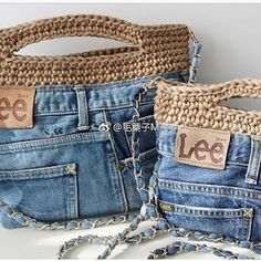 Newest Totally Free Good idea for the jeans we no longer wear - Bags - # for . Ideas I love Jeans ! And even more I like to sew my very own Jeans. Next Jeans Sew Along I am likely to Diy Jeans, Recycle Jeans, Denim Bags From Jeans, Crochet Handbags, Crochet Purses, Denim Handbags, Denim Ideas, Denim Crafts, Crochet Accessories