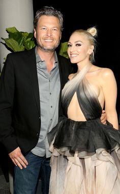Blake Shelton & Gwen Stefani from The Big Picture: Today's Hot Pics  Perfect pair! The cute couple attend the Glamour Women of the Year Awards in Hollywood.
