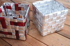 ruutujen yhdistäminen - ruutupunontaa Korn, Diy, Paper Engineering, Bricolage, Do It Yourself, Homemade, Diys, Crafting