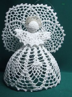 Save want to make this Crochet Angel Pattern, Crochet Angels, Crochet Motif, Crochet Flowers, Crochet Hooks, Crochet Patterns, Filet Crochet Charts, Crochet Ornaments, Crochet Winter