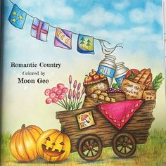 Romantic Country #eriy #romanticcountry #romanticcountrycoloringbook…