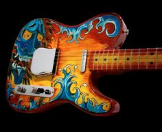 I love Asian Art and Telecasters so for me this is a dream guitar.
