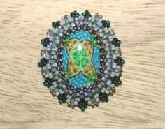 Beaded bezel tutorial: how to bezel an oval cabochon with Peyote Stitch | Beading tutorial (Item ID: 326081, End Time : N/A) - DIY Lessons - Learn Jewelry Making With Online Lessons, Videos and PDF Tutorials
