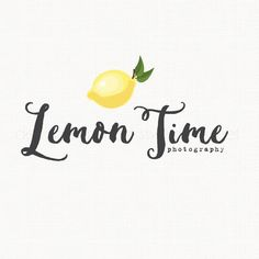 Lemon Logo Design Photography Logo Design by stylemesweetdesign