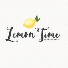 Lemon Logo Design Photography Logo Design by stylemesweetdesign