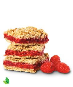 Raspberry Oatmeal Bars -- just SCREAM holiday breakfast.
