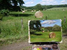 Landscape Art, Landscape Paintings, Art Et Nature, Art Hoe Aesthetic, Gouache, Painting Inspiration, Creative Art, New Art, Sculpture Art