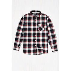 Poler Flannel Button-Down Shirt (435 HRK) ❤ liked on Polyvore featuring tops, black multi, button up shirts, button down top, pole top, flannel top and shirt tops