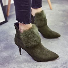 Find More Women's Pumps Information about 2016 new high heeled boots women winter boots with Martin boots pointed zipper plush boots,High Quality ladies boots and shoes,China ladies trouser Suppliers, Cheap ladies bags and purses from GengNan store on Aliexpress.com
