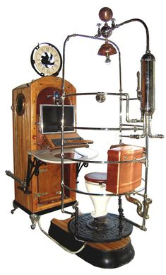 Steampunk Computer Workstation and Toilet - Neatorama