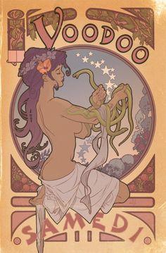 voodoo queen Vintage Retro Art Poster Print Postcard ☮~ღ~*~*✿⊱  レ o √ 乇 !! ~