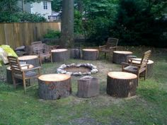 Backyard fire pit area at my old house ;)