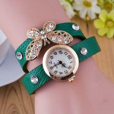 Crystal Butterfly Bracelet Watch