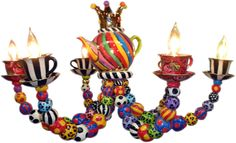Cool!!  Tea Set Chandelier   ~ Mary Rose Young Pottery