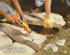 Avoid Mortar - Use polyurethane adhesive instead    Mortar is traditionally used to secure the top courses of stone on a wall. But polyurethane adhesive does the same thing without the hard work and mess of mixing mortar or the skill needed to trowel it on. Also, PU  stays flexible, so it doesn't crack and fall out like mortar does. Combine stone chips with the adhesive to shim stones to keep them steady until the adhesive cures. PU is at least as strong as dedicated landscape adhesives.