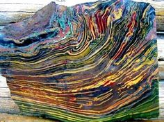 cool Rough of Kaleidoscope Jasper from Oregon...