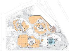 Shopping mall architecture, retail architecture, architecture plan, urban i Shopping Mall Architecture, Retail Architecture, Architecture Plan, Mall Design, Shop Front Design, Store Design, Shoping Mall, Mall Facade, Urban Ideas