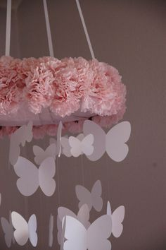 Beautiful Ceiling Mobile for a nursery ( girls room)