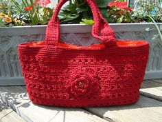 """Free pattern for """"Bloomin' Bag"""" by Cathy Phillips!"""
