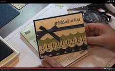 cardmaking video tutorial from: Stampinjill - Quick Scallop Card Idea ... really cute card that show off her quilter's eye ... Stampin' Up!
