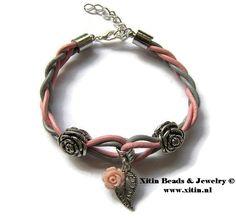 Armband gemaakt met de artikelen van Xitin Beads Diy Jewelry, Jewelry Bracelets, Jewelry Making, Beads Online, Diys, Leather, Fashion, Wristlets, Moda