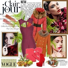 """""""red bottom daf ankle boots and louis vuitton scarf"""" by kellypang ❤ liked on Polyvore"""